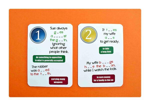 Idioms part two gry do nauki języka angielskiego (2)