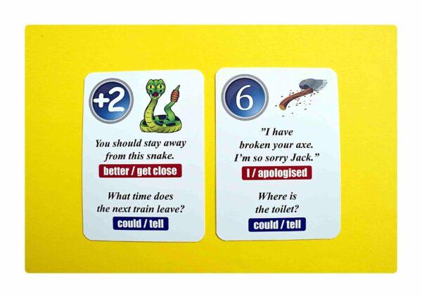 sentence transformations #2 gry do nauki języka angielskiego (9)